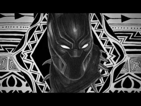 Desenho Pantera Negra Speed Drawing Youtube