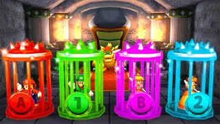 Mario Party The Top 100 MiniGames - Mario Vs Luigi Vs Peach Vs Yoshi (Master Cpu)