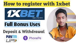 How to Register on 1xbet    Deposit and withdrawal on 1xbet    withdrawal proof of 1xbet    1xbet