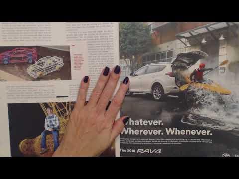 ASMR ~ Whispered Car Magazine Reading / Page Flipping