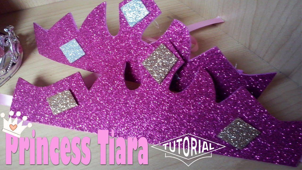 Como hacer coronas o Tiaras en Foami para Fiestas Princesa Manualidades