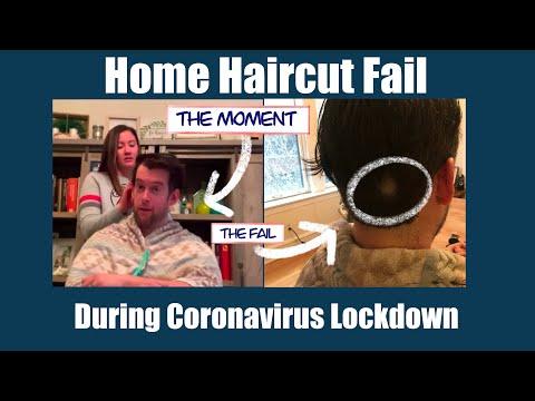 Coronavirus Haircut Fail - Wife Shaves Bald Spot During Corona Lockdown - Funny Haircut Video
