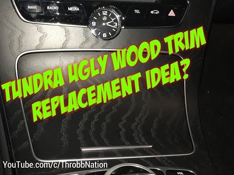 2018 Toyota Tundra Wood Trim Replacement Idea?