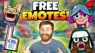 NEW FREE EMOTES & HOW TO GET THEM! | Clash Royale | NEW CRL EMOTE GAMEPLAY!