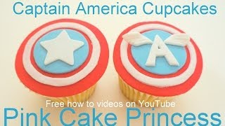 Captain America Cupcakes - How To Make Captain America Cupcakes