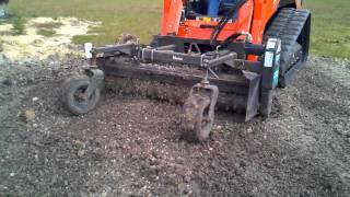 Kubota Track Loader & Hydraulic rake