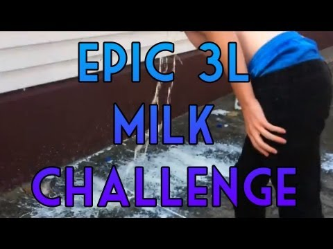 Epic 3L Milk Challenge - VOMIT EVERYWHERE