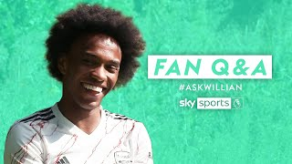 How did Willian react when Aubameyang signed the contract? | Fan Q&A