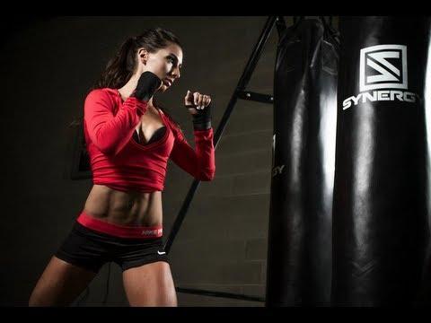 simone's fitness model journey  kickboxing workout leap