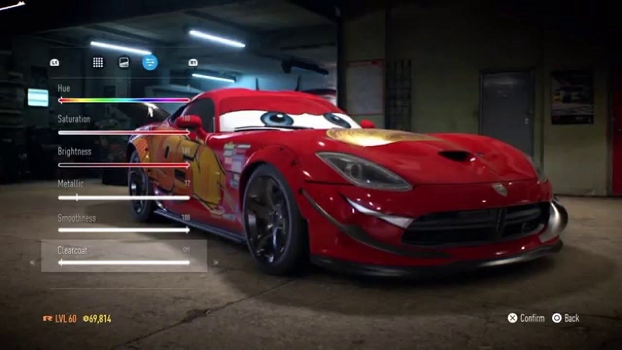 need for speed 2015 ps4 lightning mcqueen from the. Black Bedroom Furniture Sets. Home Design Ideas
