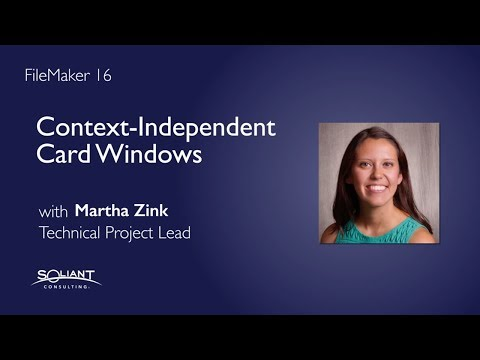 FileMaker 16: Context-Independent Card Windows