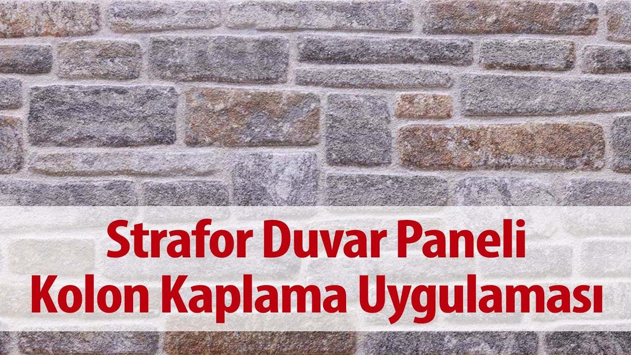 Strafor Duvar Paneli Taş Görünümlü Kolon Kaplama Uygulaması