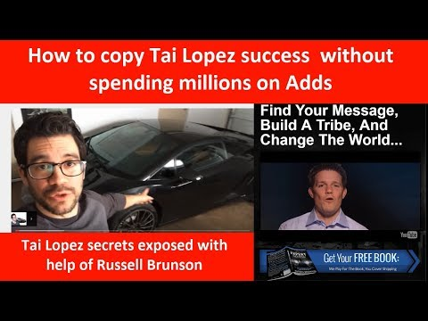 Tai Lopez sales strategy exposed with help of Russell Brunson