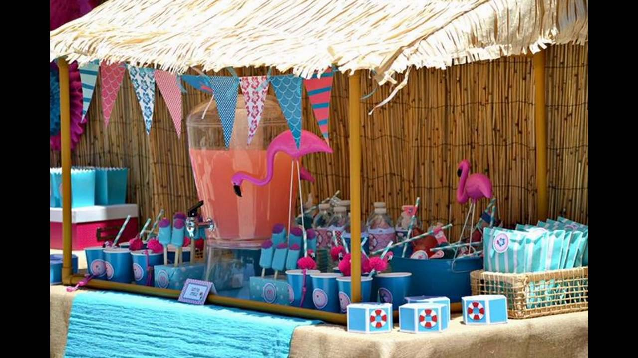 Pool party themed decorating ideas