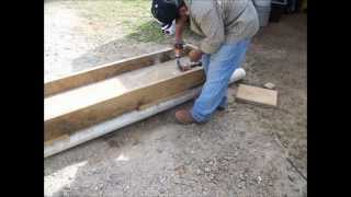 How We Made Feed Troughs For Our Cattle