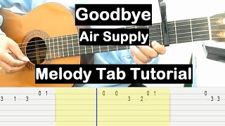 Goodbye Guitar Lesson Melody Tab Tutorial Guitar Lessons for Beginners