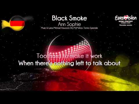"Ann Sophie - ""Black Smoke"" (Germany) - [Karaoke version]"