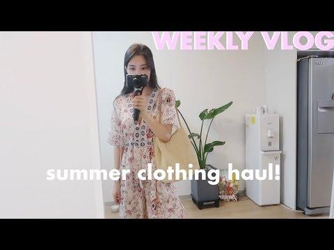 Weekly Vlog   Summer Clothing Haul, Behind the Scenes of Instagram Photo, Travel plans!