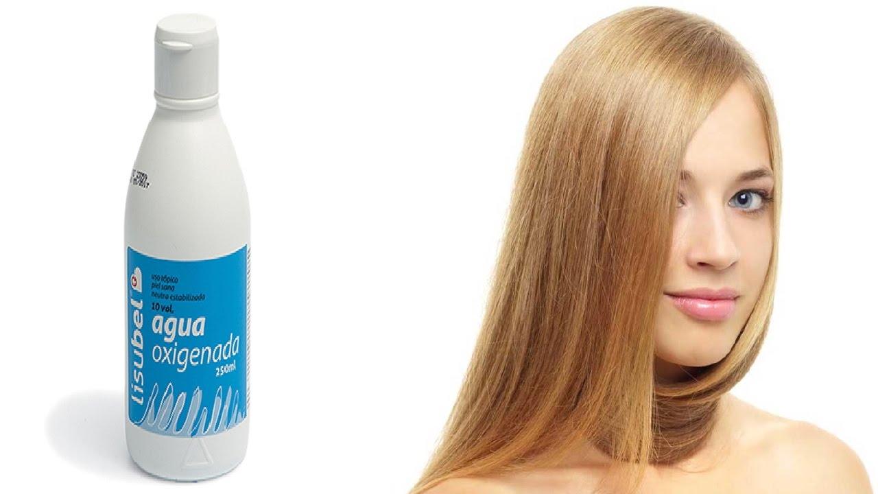 aclarar el pelo con agua oxigenada y bicarbonato
