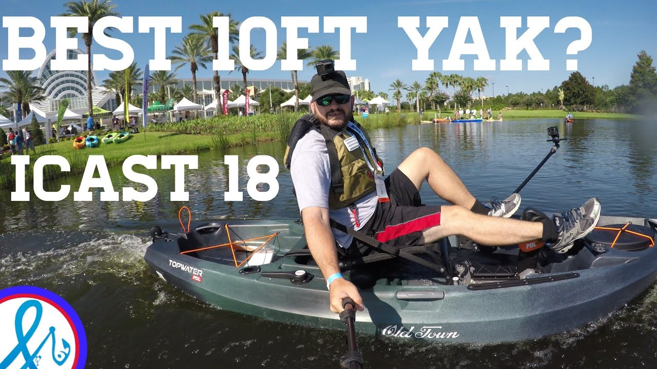Old town Topwater PDL Kayak 106 on the water demo iCAST 2018