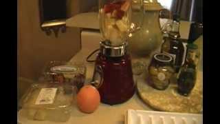 Healthy Juice Drink ! Pineapple Orange Strawberry