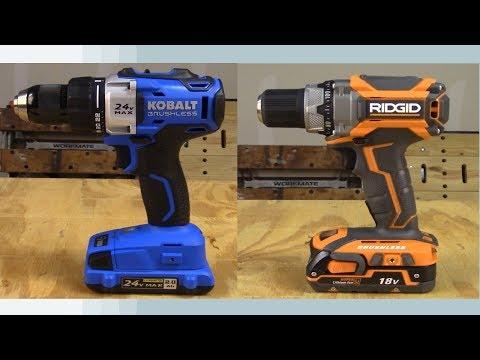 RIDGID Drill vs Kobalt Drill Comparison