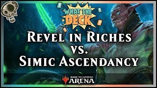 Noxious vs. Day[9] in What the Deck! | Ep 2: Revel in Riches vs. Simic Ascendancy | MTGA