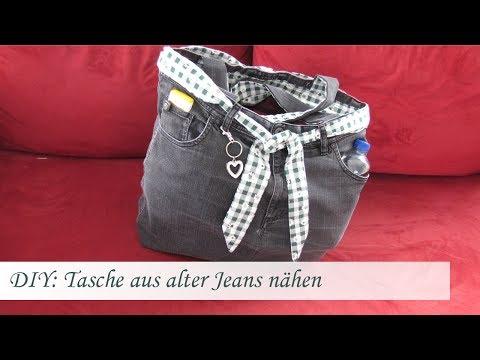 DIY: Einfache Tasche nähen aus einer alten Jeans – Für Nähanfänger