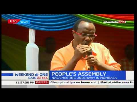 Raila Odinga leads NASA principals as they hold a People's Assembly meeting