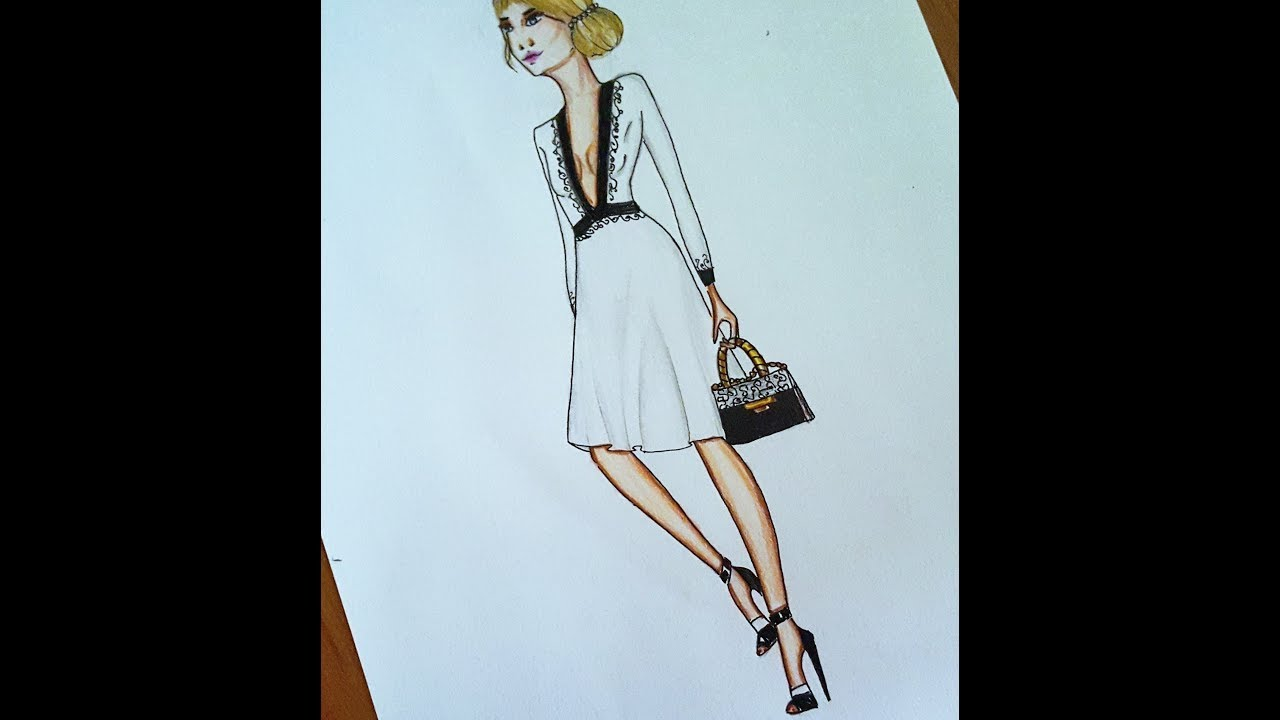 Fashion Drawing Comment Dessiner Une Robe Facile