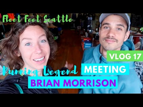 VLOG 17: MEETING BRIAN MORRISON  Fleet Feet Seattle  Vegan food and running
