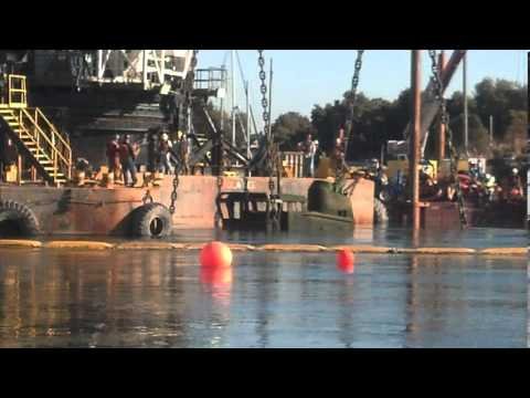 Sunken vessel raised and removed in Oakland Estuary Cleanup Project