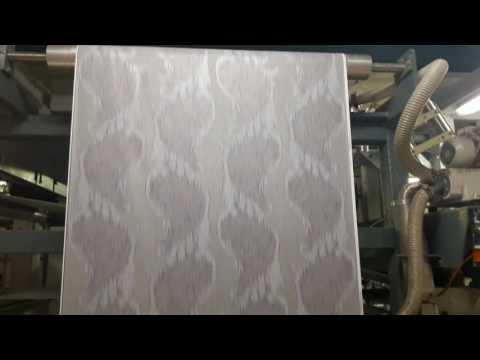 производство виниловых обоев часть 2