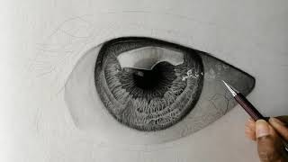 HOW TO DRAW HYPER REALISTIC EYE (PART 2) | SPEED DRAWING
