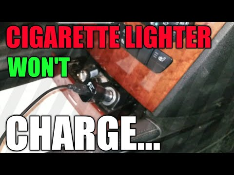 Mercedes Cigarette Lighter Issues Auxiliary Power - YouTube