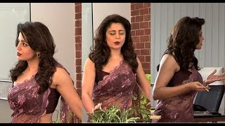 Neha Pendse Hot Sensual Dance Navel Show in Transparent Saree #3 | Dec 2017