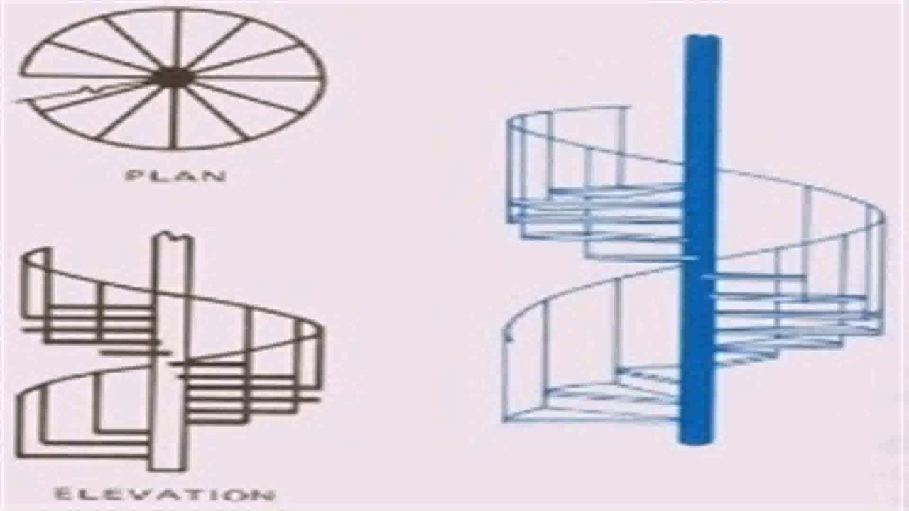 Floor Plan Symbols Spiral Staircase - YouTube