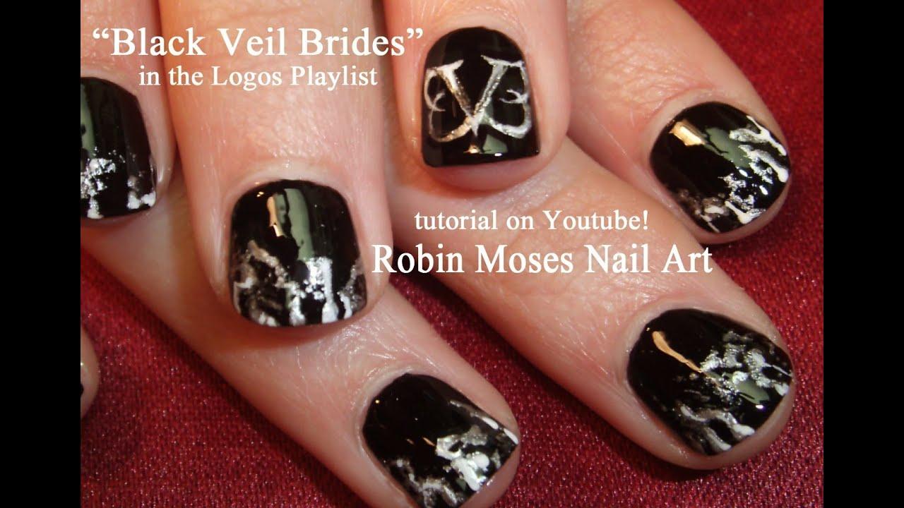 Black Veil Brides Nail Art Tutorial - YouTube