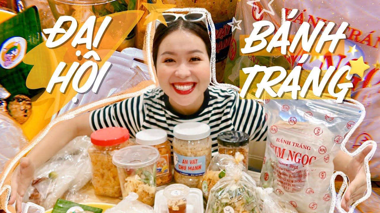 Review 9 địa chỉ bánh tráng BÙNG CHÁY tại Sài Gòn 🤤 | BEST STREETFOOD | An Phương