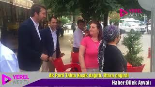 Ak Parti Tahta Kaşık dağıttı, iftara çağırdı