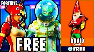 "HOW to GET *NEW* ""GNOME"" SKINS for FREE on FORTNITE BATTLE ROYALE - UNLOCK NEW SKINS! (NEW UPDATE)"