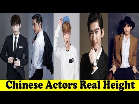 15 Chinese Actors Real Height In Feet - Tallest and Shortest Chinese Actors 2018