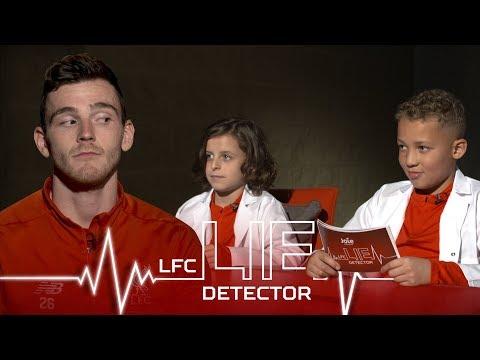 Home Alone pyjamas and singing Sweet Caroline | Andy Robertson takes the Kop Kids Lie Detector Test