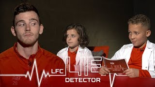 Home Alone pyjamas and singing Sweet Caroline | Andy Robertson takes the Kop Kids Lie Detector Test