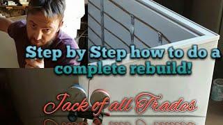 Refrigeration step by step complete rebuild of deep freezer DIY.