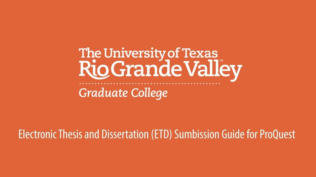 Dissertation proquest database