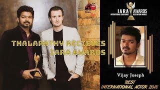 Thalapathy Vijay Receives Best International Actor From IARA Awards in London