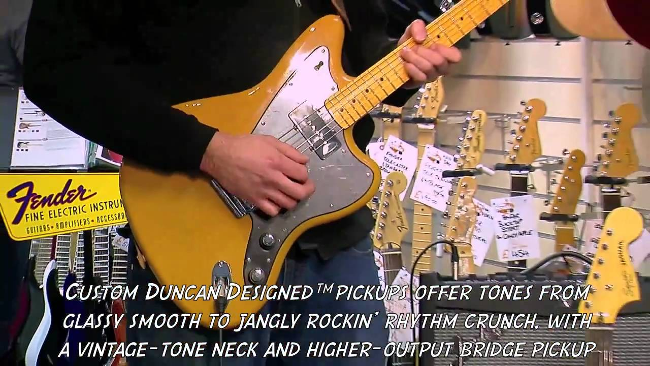 Squier Vintage Modified Jazzmaster Butterscotch Blonde Demo Pmtvuk 3 Way Switch Youtube