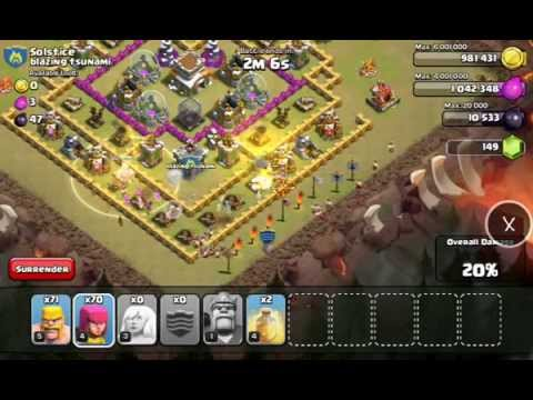 Simulation Attack Clash Of Clan With X Mod