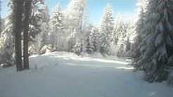 Skiroute mit Helmkamera vom Diedamskopf ins Tal